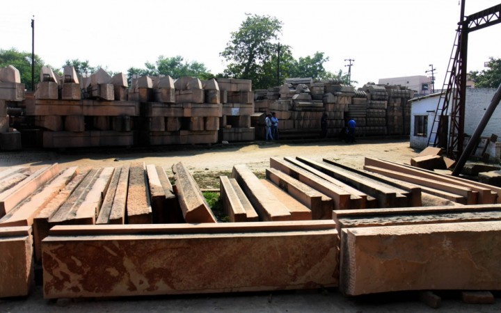 Construction material meant for building the proposed Ram temple in Ayodhya. (File Photo: IANS)