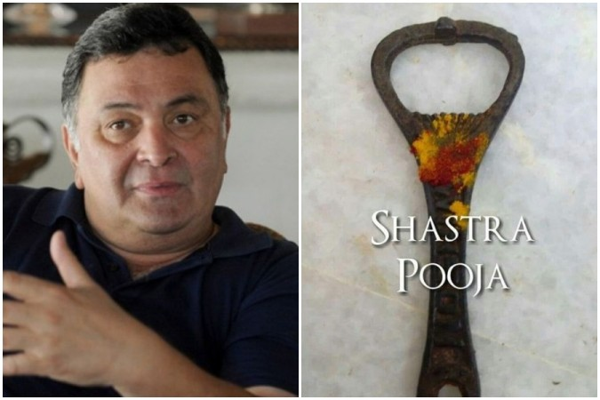 Rishi Kapoor's unusual Dussehra wish and Shastra Puja