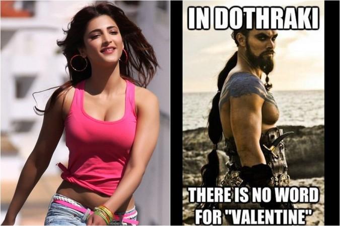 Shruti Haasan and her funny meme on Dothraki