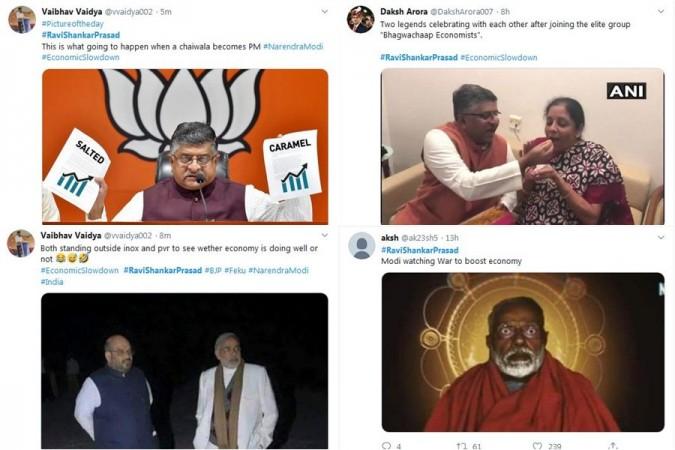 Funny memes on Ravi Shankar Prasad