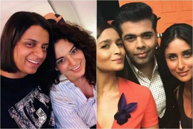 Rangoli Chandel, Kangana Ranaut, Alia Bhatt, Karan Johar, Kareena Kapoor
