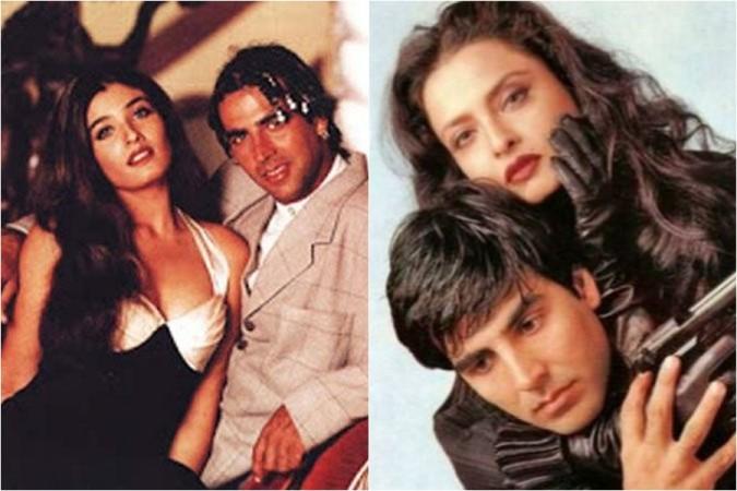 Raveena Tandon, Akshay Kumar, Rekha