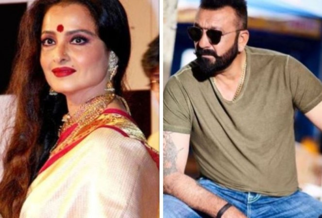 Rekha and Sanjay Dutt