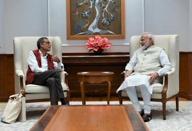 Abhijit Banerjee meets narendra modi