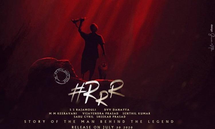 RRR movie fan-made poster