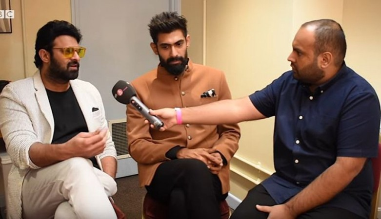 Prabhas and Rana Daggubati in an interview with BBC at the backstage of the Royal Albert Hall