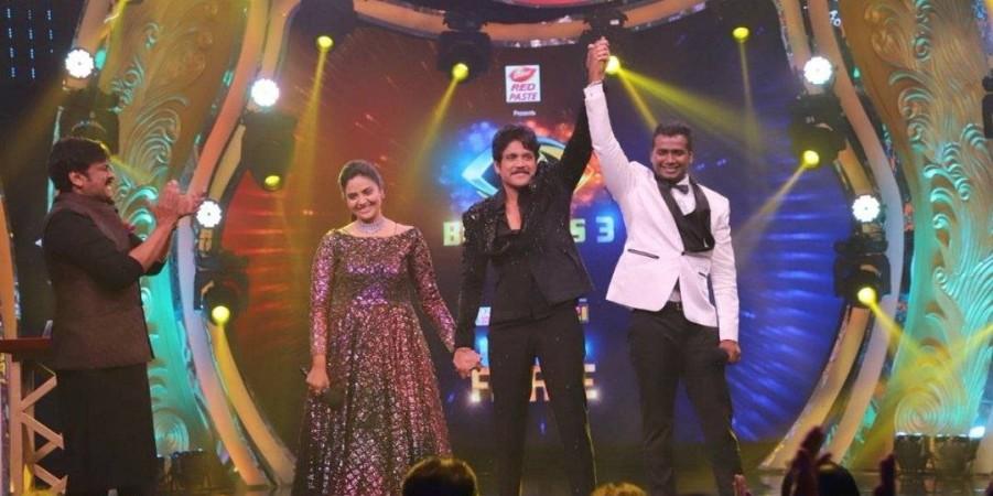 Akkineni Nagarjuna announce Rahul Sipligunj as the winner of Bigg Boss Telugu 3