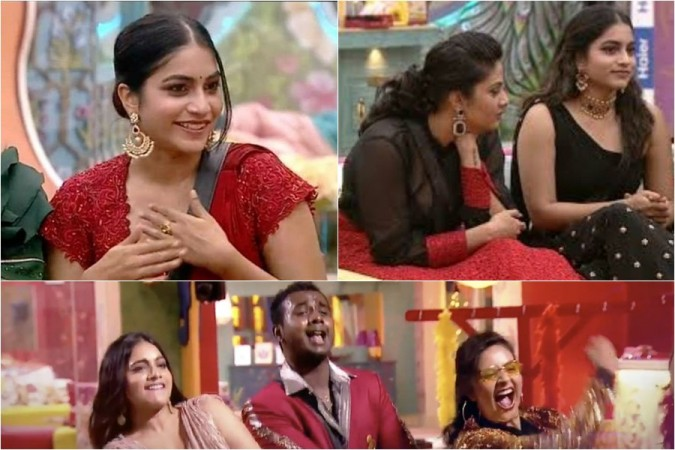 Punarnavi Bhupalam with Rahul Sipligunj and Sreemukhi in Bigg Boss Telugu 3 house