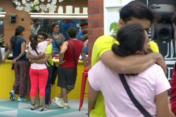Kishan Plants a Kiss on Chandana in Bigg Boss Kannada