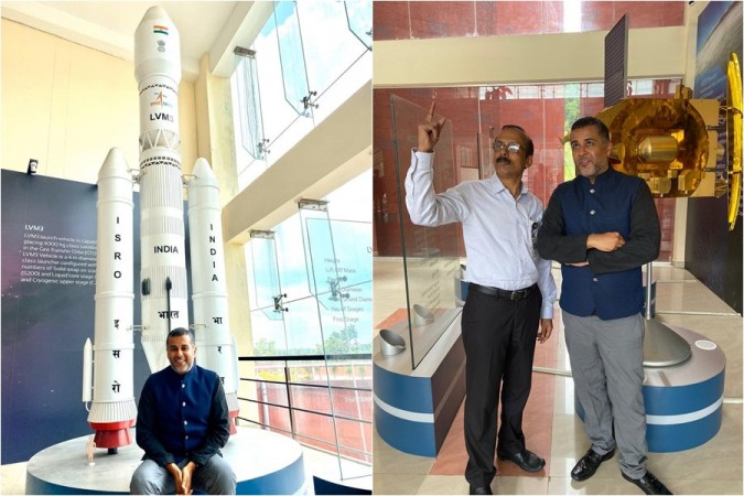 Chetan Bhagat at ISRO event World Space Week