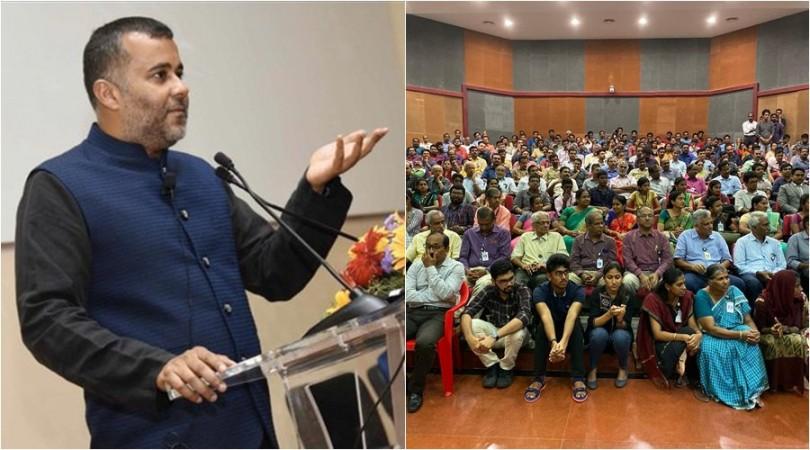 Chetan Bhagat at the ISRO event World Space Week