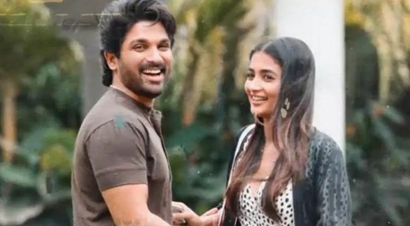 Pooja Hegde and Allu Arjun in Ala Vaikunthapuramulo