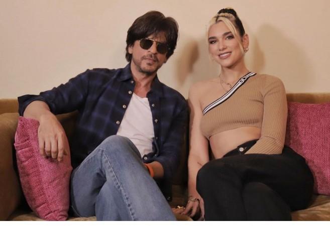 Shah Rukh Khan with singer Dua Lipa