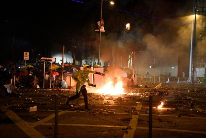 Hong Kong university violence