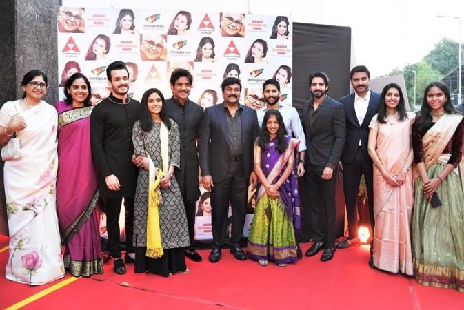 Akkineni Family members at the ANR National Award 2019