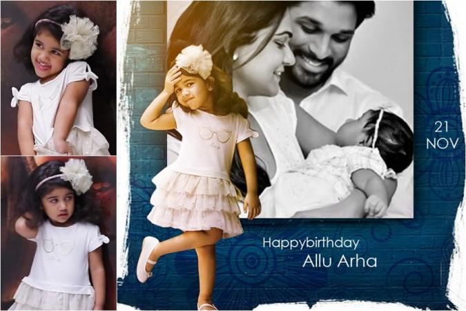 DP for Allu Arjun's daughter Arha's birthday