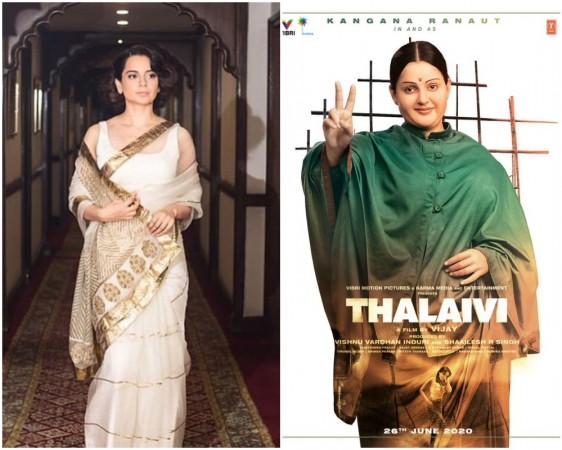 Kangana Ranaut's first look in Thalaivi