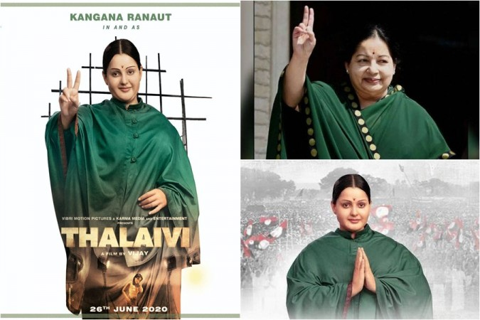 Kangana Ranaut's first look as Jayalalithaa in Thalaivi