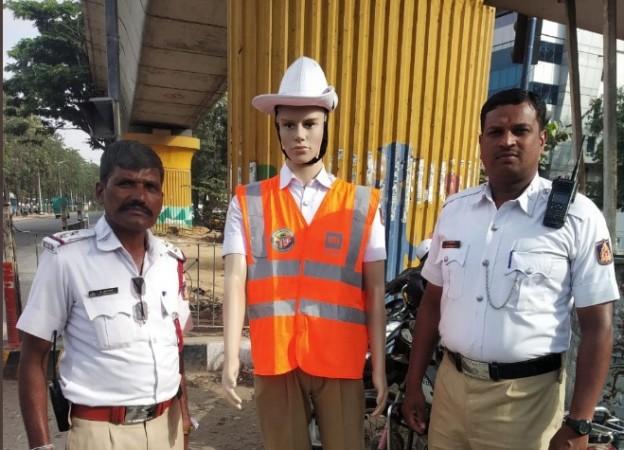 Bengaluru traffic police mannequins