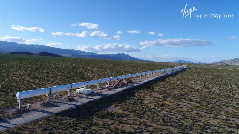 Hyperloop network from the outside