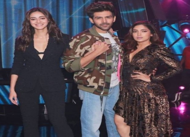 Pati Patni aur Woh stars Kartik Aaryan, Bhumi Pednekar and Ananya Pandey on Indian Idol 11