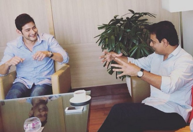 Mahesh Babu with KT Rama Rao