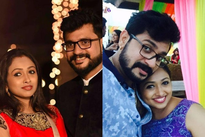 Tamil TV actor Jayashree Rao with her husband Isvar Raghunathan