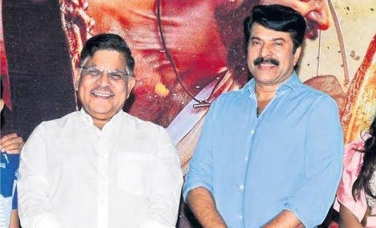 Mammootty and Allu Aravind at Mamangam trailer launch
