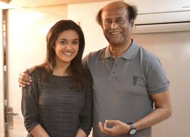 Rajinikanth and Keerthy Suresh