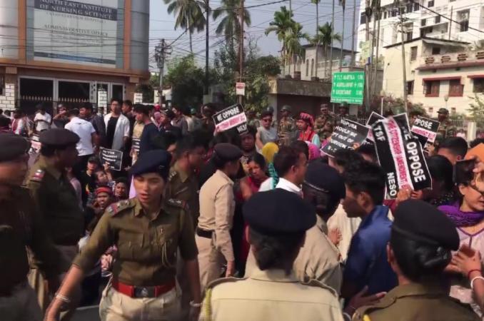 tripura protest