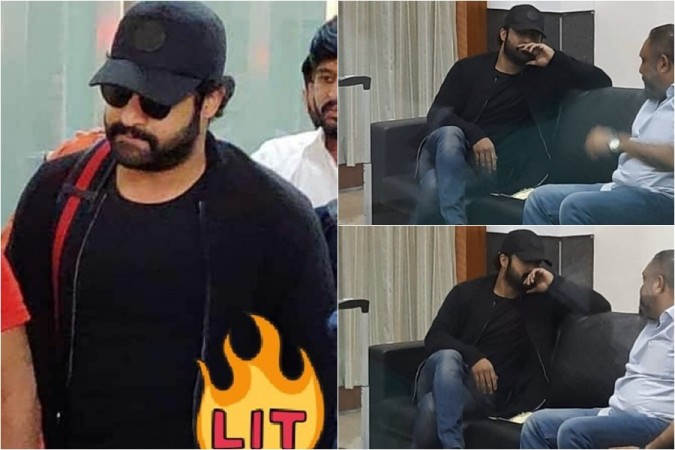Junior NTR spotted at Vizag airport