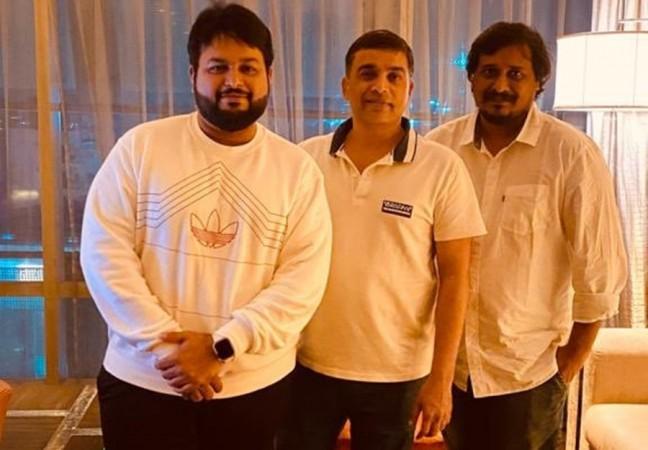 S Thaman, Dil Raju and Sriram Venu