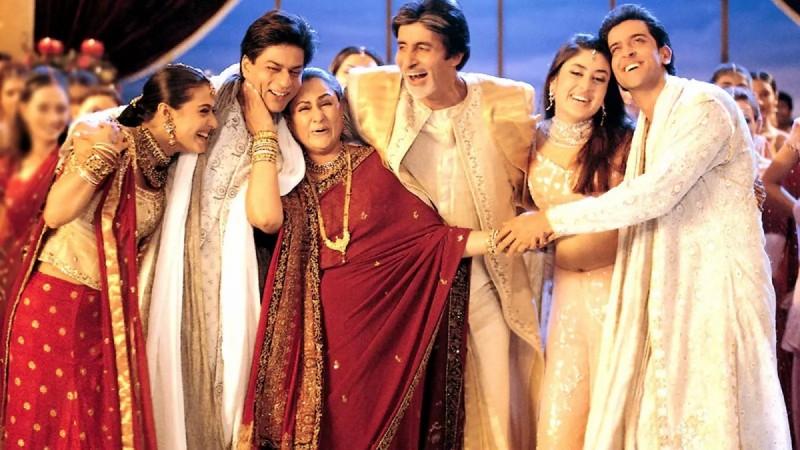 Kabhi Khushi Kabhi Ghum, Shah Rukh Khan, Hrithik Roshan, Amitabh Bachchan, Jaya Bachchan, Kareena Kapoor Khan, Kajol