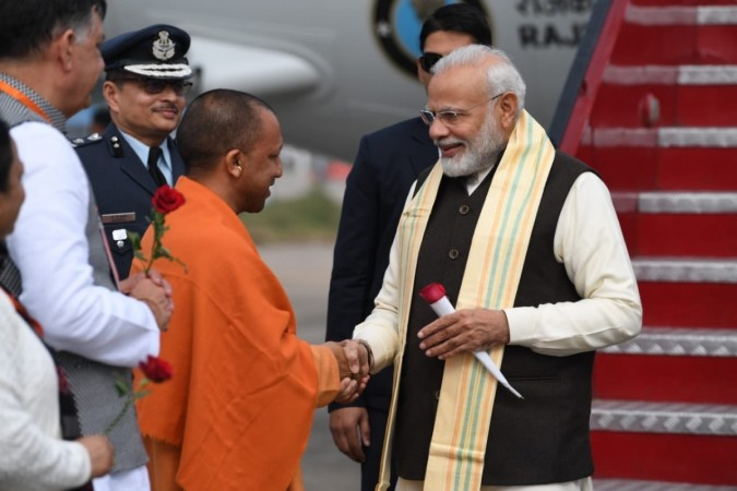 The Prime Minister landed in Kanpur to take part in the National Ganga Council meeting.