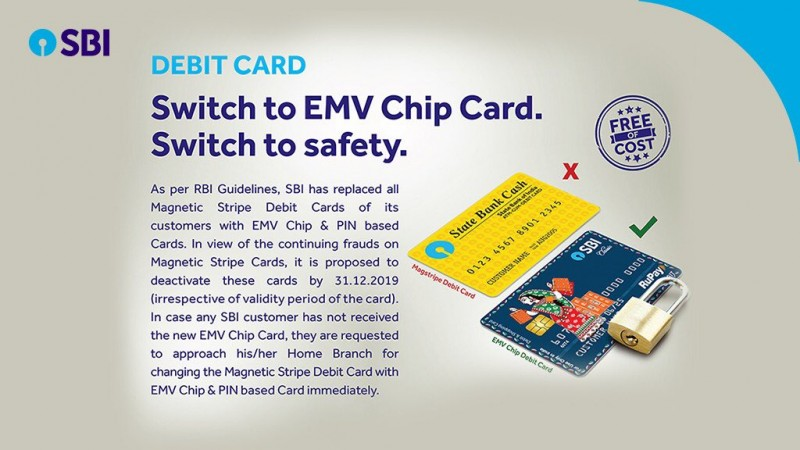 SBI mandates EMV chip-based debit cards
