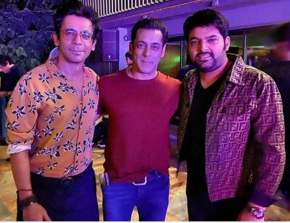 Kapil Sharma, Sunil Grover with Salman Khan