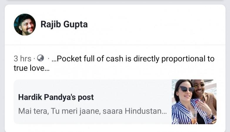Comments on Hardik-Natasa Engagement