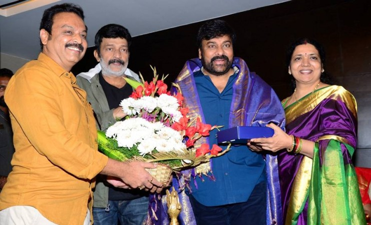 Rajasekhar with Chiranjeevi at the MAA dairy launch event