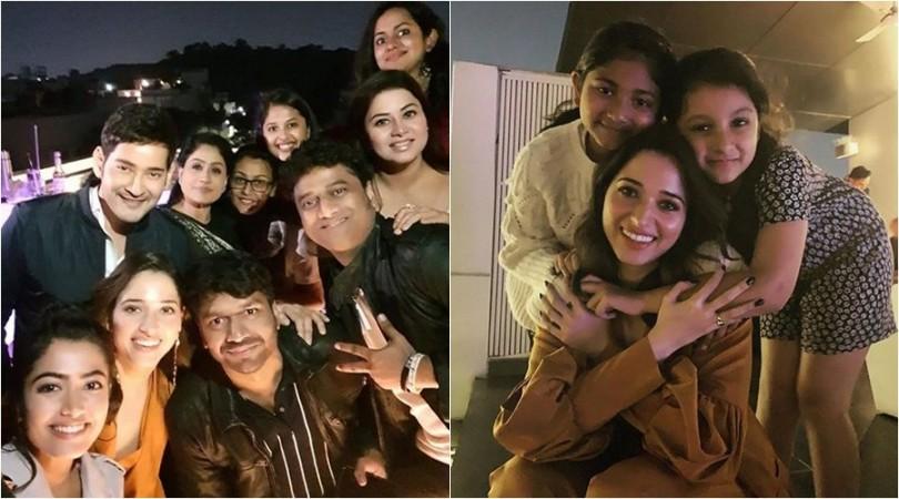 Tamanna parties with Mahesh Babu and other team members of Sarileru Neekevvaru