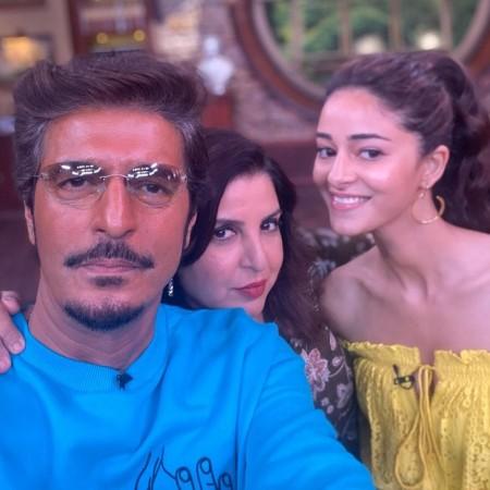 Chunkey Pandey, Farah Khan, Ananya Pandey