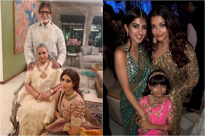 Amitabh Bachchan, Jaya Bachchan, Shweta Bachchan-Nanda, Navya Naveli, Aishwarya Rai Bachchan, Aaradhya Bachchan