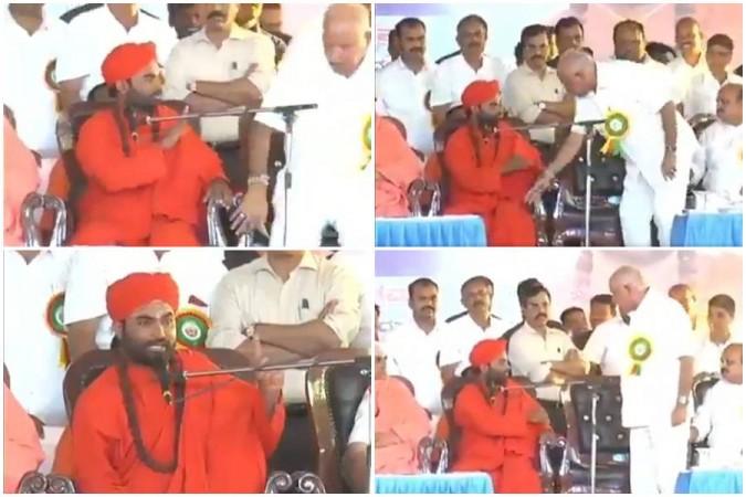 BS Yeddyurappa's outburst against Vachananda Swamiji