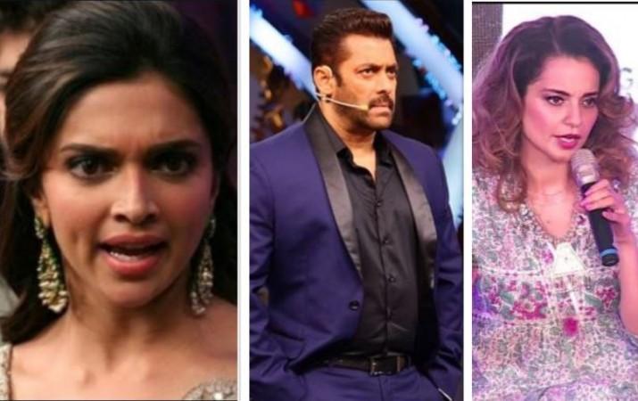 Deepika Padukone, Salman Khan, Kangana Ranaut