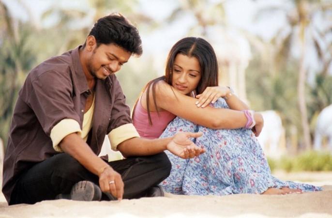 Vijay with Trisha