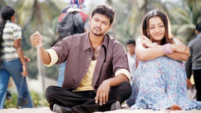 Thalapathy Vijay with Trisha