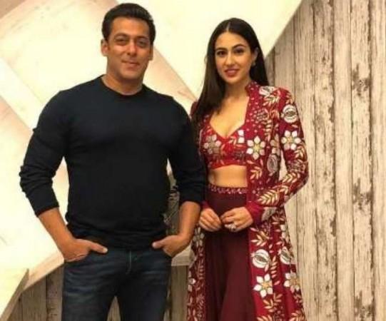 Salman Khan and Sara Ali Khan