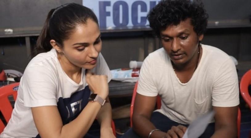 Andrea Jeremiah with Lokesh Kanagaraj