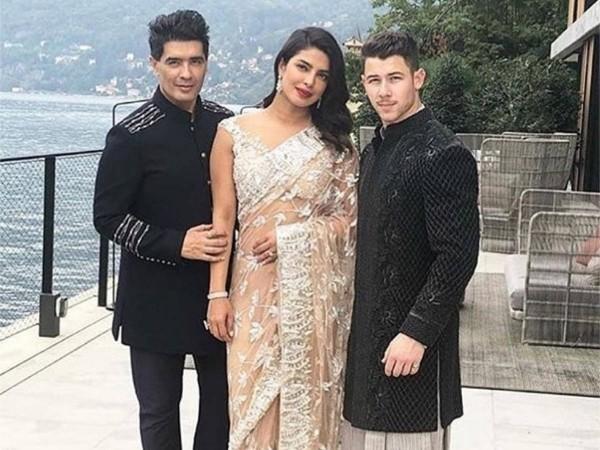 Manish Malhotra, Priyanka Chopra, Nick Jonas