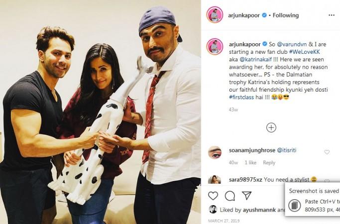 Varun Dhawan, Katrina Kaif, Arjun Kapoor
