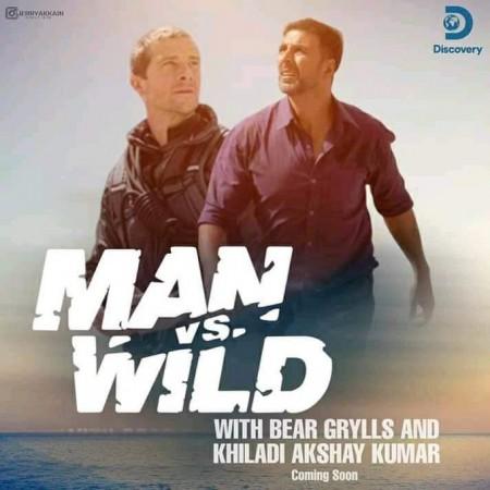 Akshay Kumar with Bear Grylls on 'Man vs Wild'